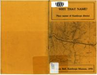 Why that name? Place names of Kamloops district