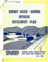 Cherry Creek-Savona official settlement plan