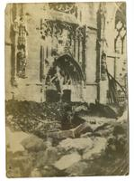 Destruction in front of unknown church