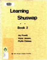 Learning Shuswap