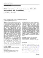 Effect of minor water depth treatments on competitive effect and response of eight wetland plants