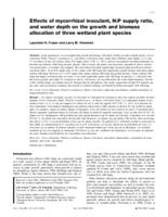 Effects of mycorrhizal inoculant, N:P supply ration, and water level on the growth and biomass allocation of three wetland plant species