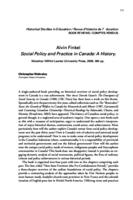 Alvin Finkel Social Policy and Practice in Canada